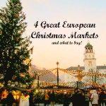 4 Great European Christmas Markets