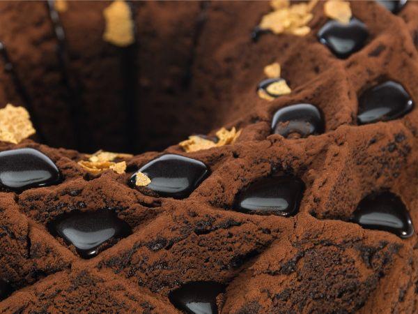 Torta de chocolate y jengibre glaseada