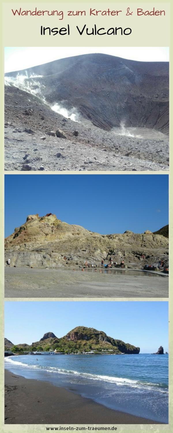 Insel Vulcano, Wanderung zum Krater, Schlammbad, Chillen am Strand, Äolischen Inseln, Liparische Inseln, Italien, Italy