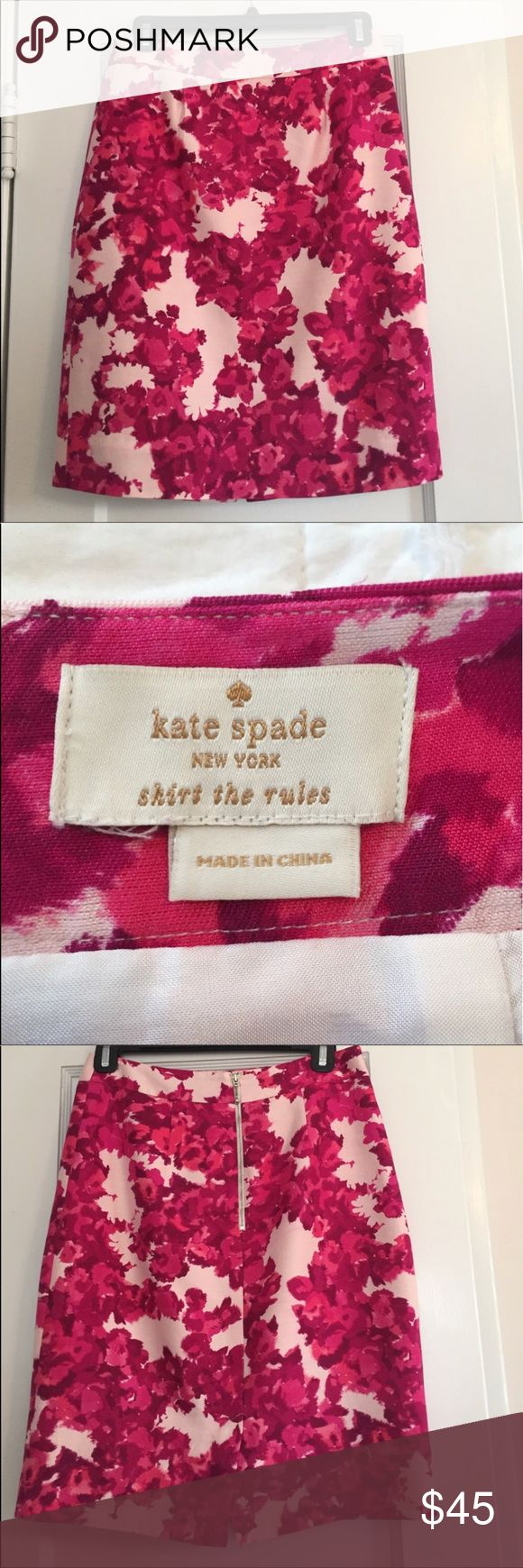 "Kate ♠️ Silk Skirt Size 2 Kate Spade silk skirt.  EUC.  Size tag is missing but is 2.  13.5"" waist and 21"" long kate spade Skirts Midi"