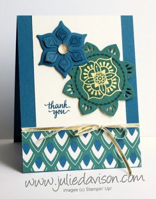Stampin' Up! Eastern Palace ~ Eastern Beauty ~ 2017-2018 Annual Catalog ~ In Colors ~ Medallion Die cuts ~ www.juliedavison.com