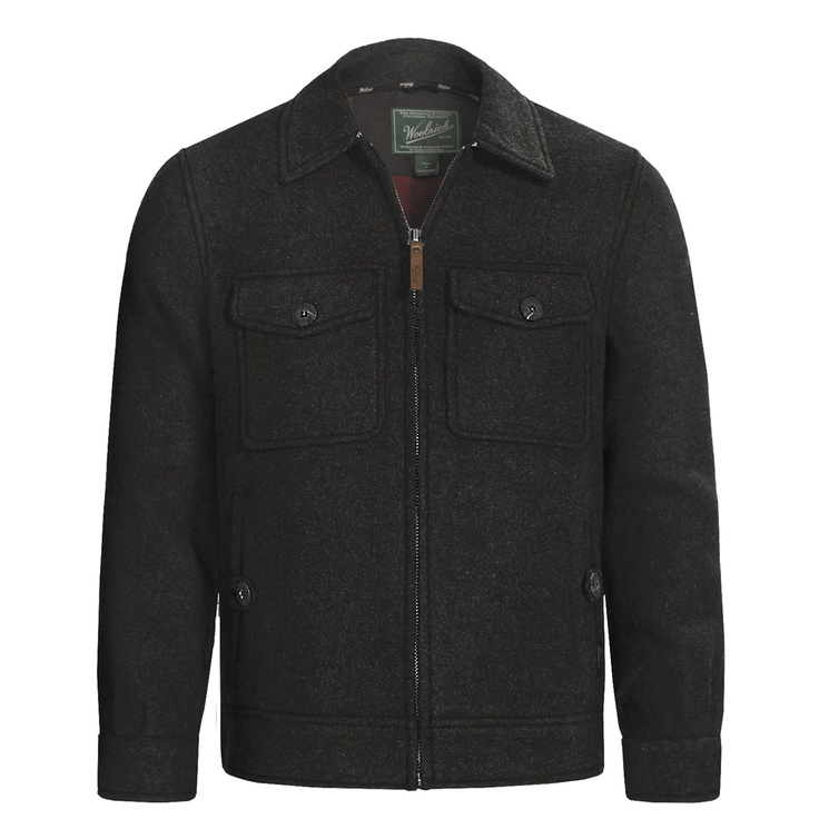 Woolrich Plateau Jacket (For Men) in Charcoal Heather