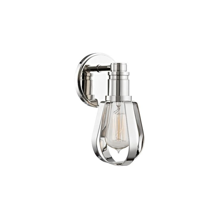 "Hudson Valley Red Hook 9 1/4""H Polished Nickel Wall Sconce - Style # 1Y416"