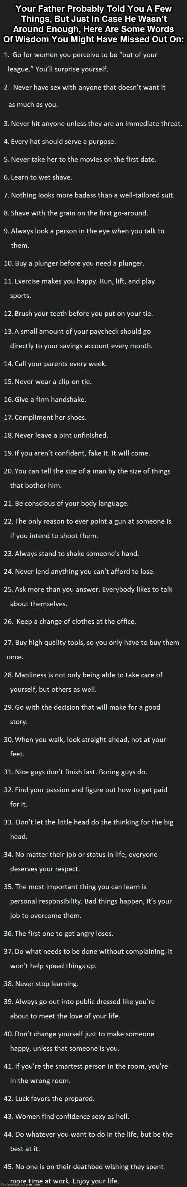 Life manual to live by | Funniest Pictures