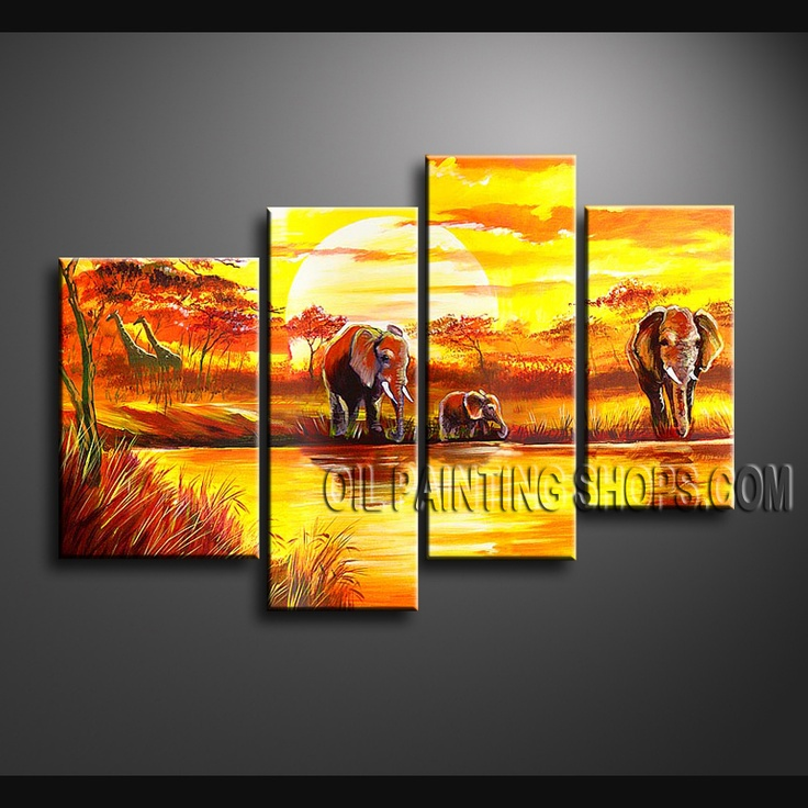 17 best images about landscape paintings africa scene on - Landscape paintings for living room ...
