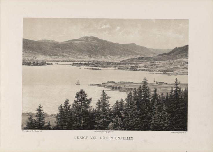 Norge fremstillet i Tegninger - Ukjent - Udsikt ved Rökentunnelen. jpg (6088×4360)