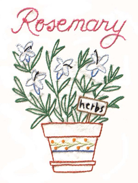 Diy herb embroidery patterns for sale or