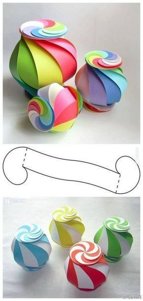 copy the pattern 10 times in your color combination, interlock the ends and have a lollipop lantern...