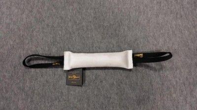 Gryzak z węża strażackiego z dwoma uchwytami 6 x 30cm biały