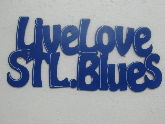 Live Love St Louis Blues Wood Cutout Show your by ExpressionsNmore, $34.95