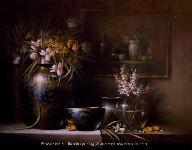 The Art of Waheed Nasir - StillLife With A Painting