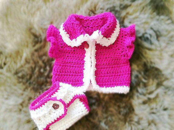 Crochet Baby Sweater Baby Sweater Sleeveless Baby Sweater