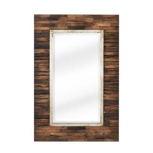 24 x 36 Natural Wood Pieced Mirror