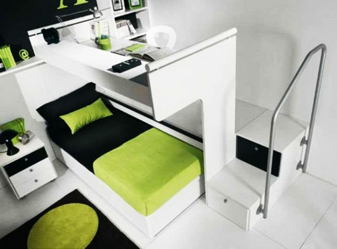 This Puts The Desk Over The Bed Instead Of Under So They
