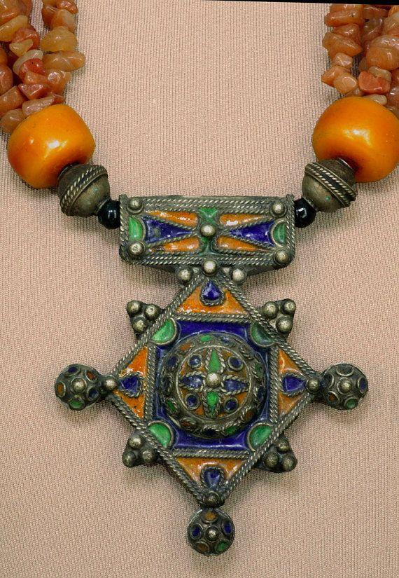 Vintage Moroccan Tuareg Necklace by SilkRoadJewelry on Etsy, $235.00