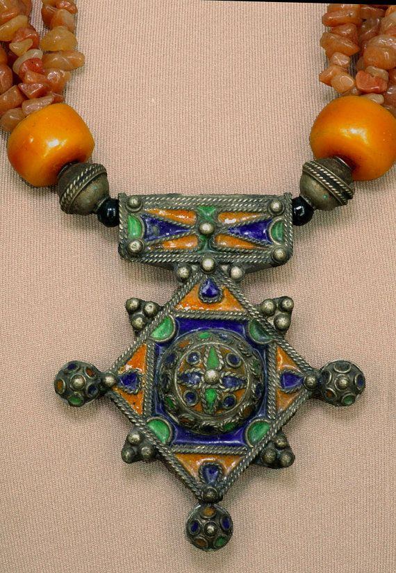 Vintage Moroccan Tuareg Necklace by SilkRoadJewelry on Etsy, $235.00
