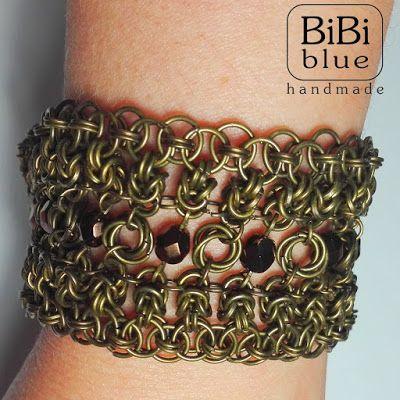 chainmaille bracelet, byzantine, helm, mobius by Bibi Blue