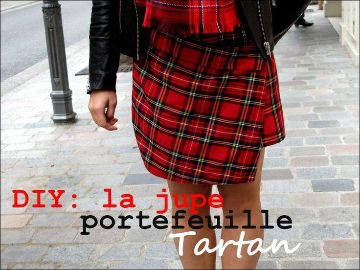 DIY: la jupe portefeuille Tartan!