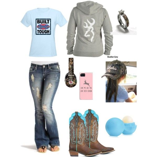 """Can I get a big hell yea from the redneck girls like me"" by johndeerhater on Polyvore"