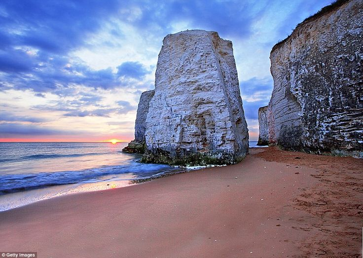 Hidden gem: Botany Bay near Margate in Kent is a Blue Flag beach, with clean (if chilly) sea swimming, making it ideal for families