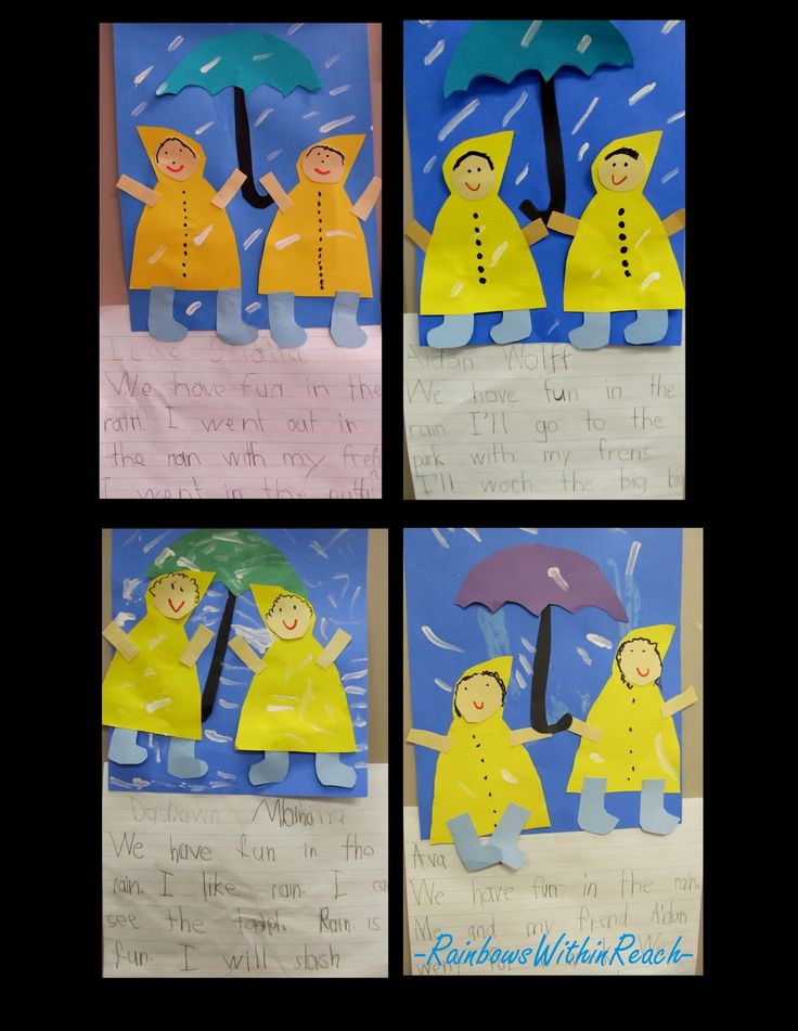 Cute idea for combining art and literacy when studying weather