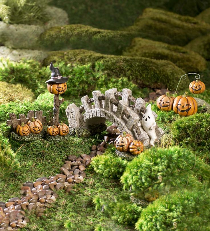 fairy garden halloween lane accessories set
