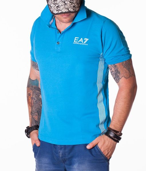 Armani Tricouri Polo - Emporio tricou polo albastru