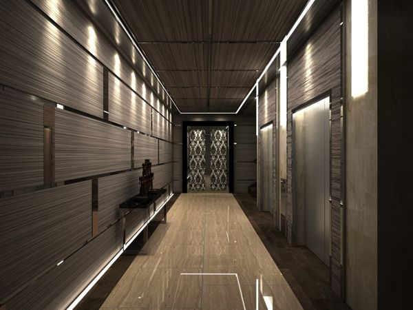 residential elevator lobby  Google Search  Residential  IndustrialContemporary  Ide hall