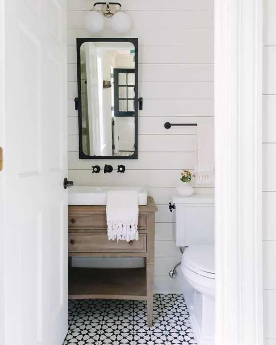 check out these stunning modern farmhouse bathrooms full of inspiration and ideas via kate marker