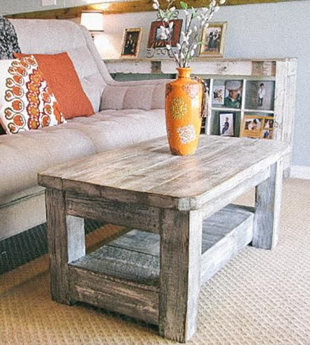 Weathered Grey Reclaimed Wood Coffee Table