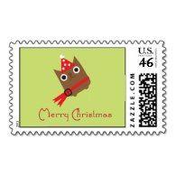 Christmas Owl Postage #owls #postage #christmas