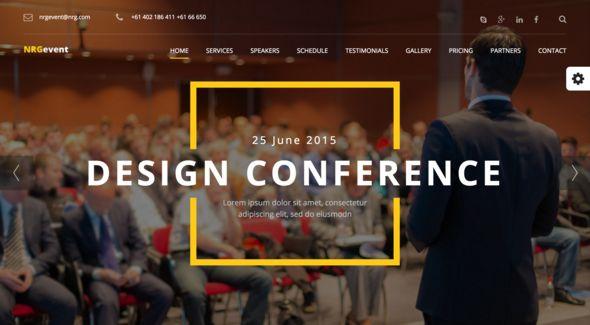 NRGevent - Conference & Event WordPress Theme
