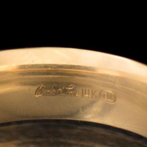 14K-Yellow-Gold-Circle-Of-Love-Mens-6mm-Ring-Band-Size-10