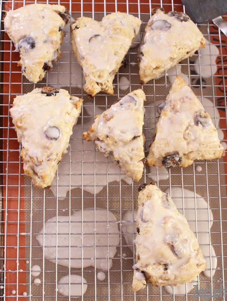 These buttery Fig and Walnut Scones topped with a sweet Maple Glaze are easy to make and perfect for breakfast or as an afternoon treat...  www.zagleft.com
