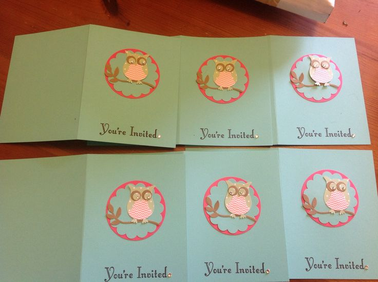 Birthday invites ....  Punches, and in colour cardstock and dsp. Xxx