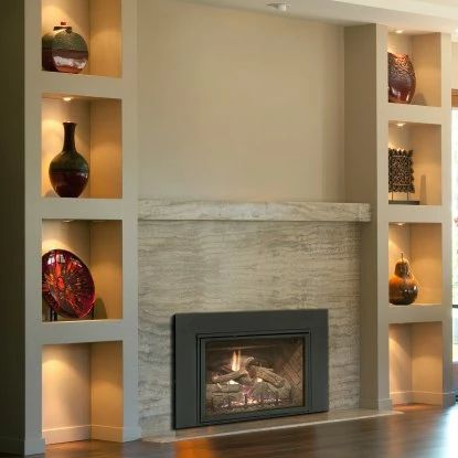 Real Fyre Direct Vent Fireplace Insert with Traditional Fire Screen at Hayneedle