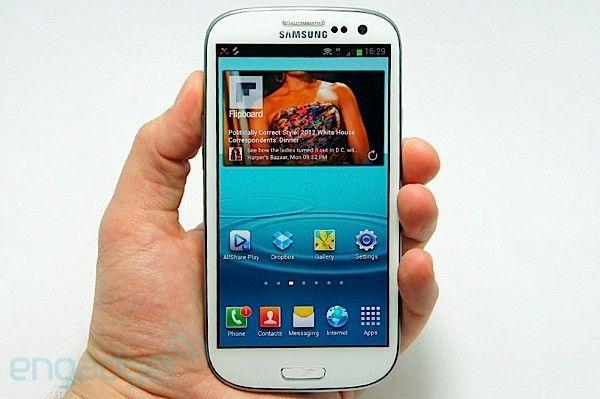 """Galaxy S3 com quad-core e tela de 4.8"""""""