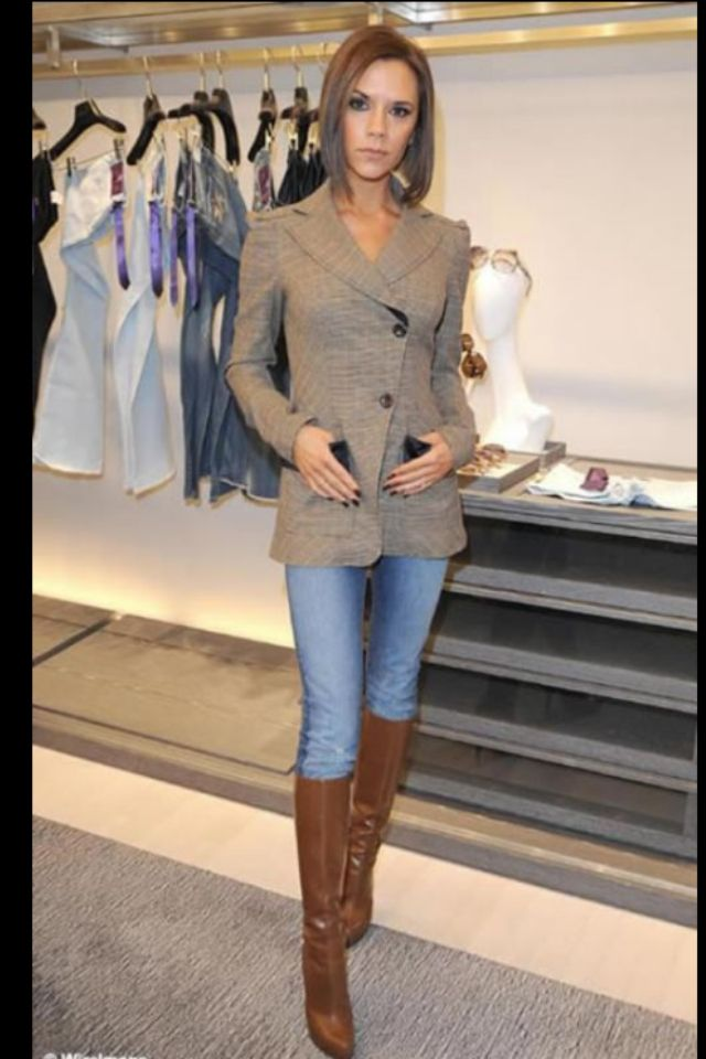 Love this blazer with skinny jeans and tall boots!