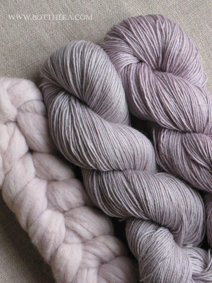 wool & yarn - natural dye with frozen sloe http://bottheka.com/en/prunus-spinosa