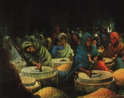Sikh Women in Mir Mannu's Jail around 1735s. (Discover Sikhism)