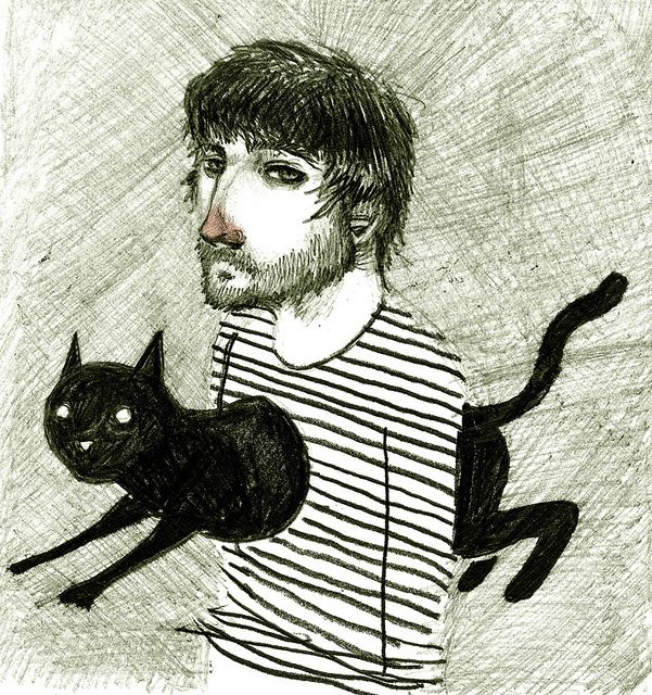 Gato by David de las Heras.  Reminds me of Jordan Thomas, except he has no cat jumping through his chest!