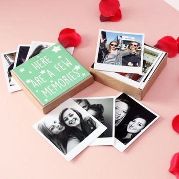 Personalised Polaroids In A Box cheap gift ideas for teen girls
