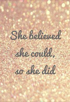 Glaub an DICH.