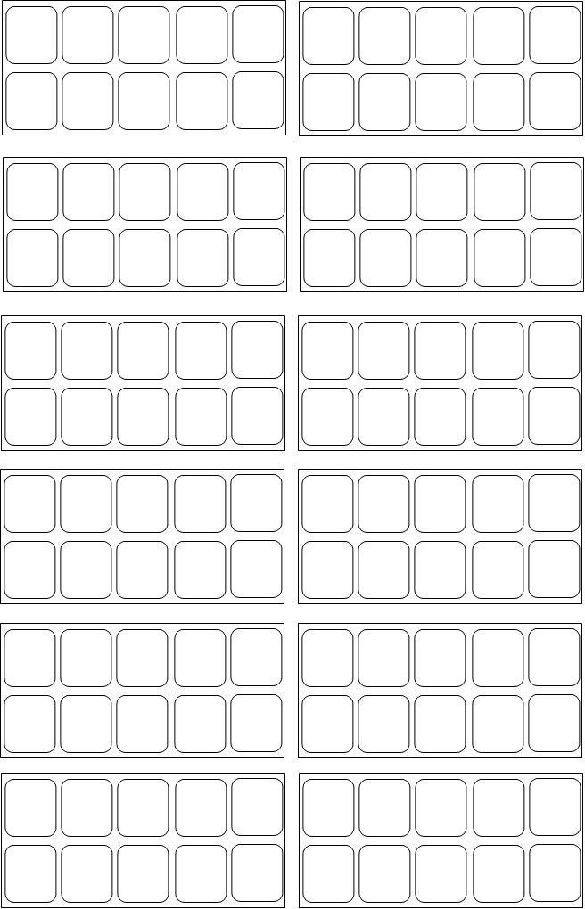 moldes de adesivos de unhas em branco