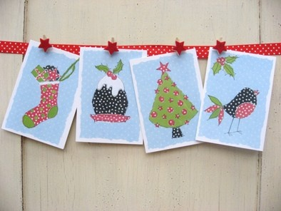 washing line: Christmas Cards, Scrapbook Ideas, Cards Ideas, Christmas Scrapbook, Dots Cards, Christmas Ideas