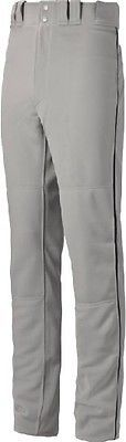 Baseball Pants 181349: Mizuno Select Pro Piped Pant - Youth - Grey Black - Large 350388-Gry Blk-L -> BUY IT NOW ONLY: $39.95 on eBay!