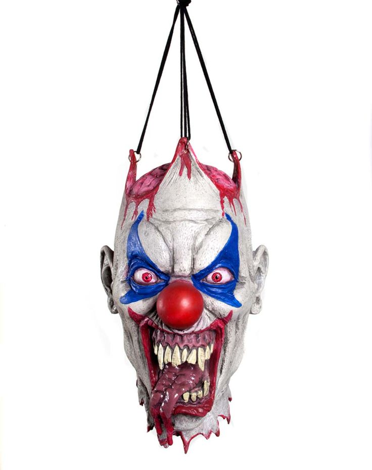 severed clown head life size halloween decoration and prop - Clown Halloween Decorations