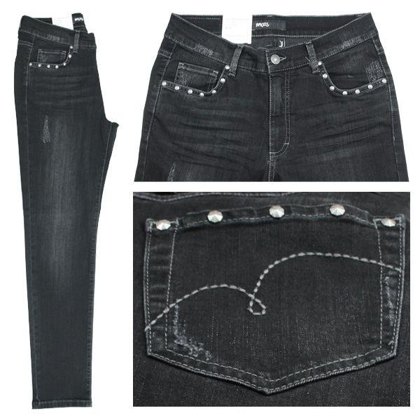 Angels Stretch Damen Jeans / Form: Rachel Glam / Farbe: schwarz verwaschen Jeans - FarbNr.: 1059 / im Angels Jeans Online Shop