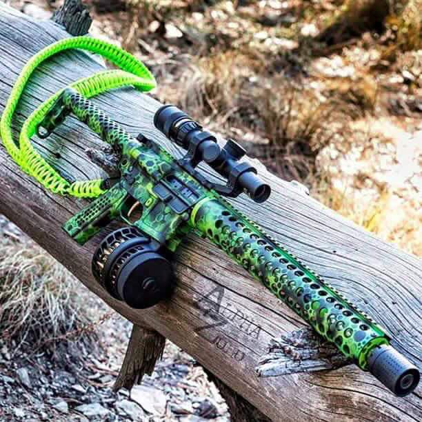 Bright Green Camo Save those thumbs & bucks w/ free shipping on this Smith and wesson M&p Shield magloader I purchased mine http://www.amazon.com/shops/raeind   No more leaving the last round out because it is too hard to get in. And you will load them faster and easier, to maximize your shooting enjoyment.