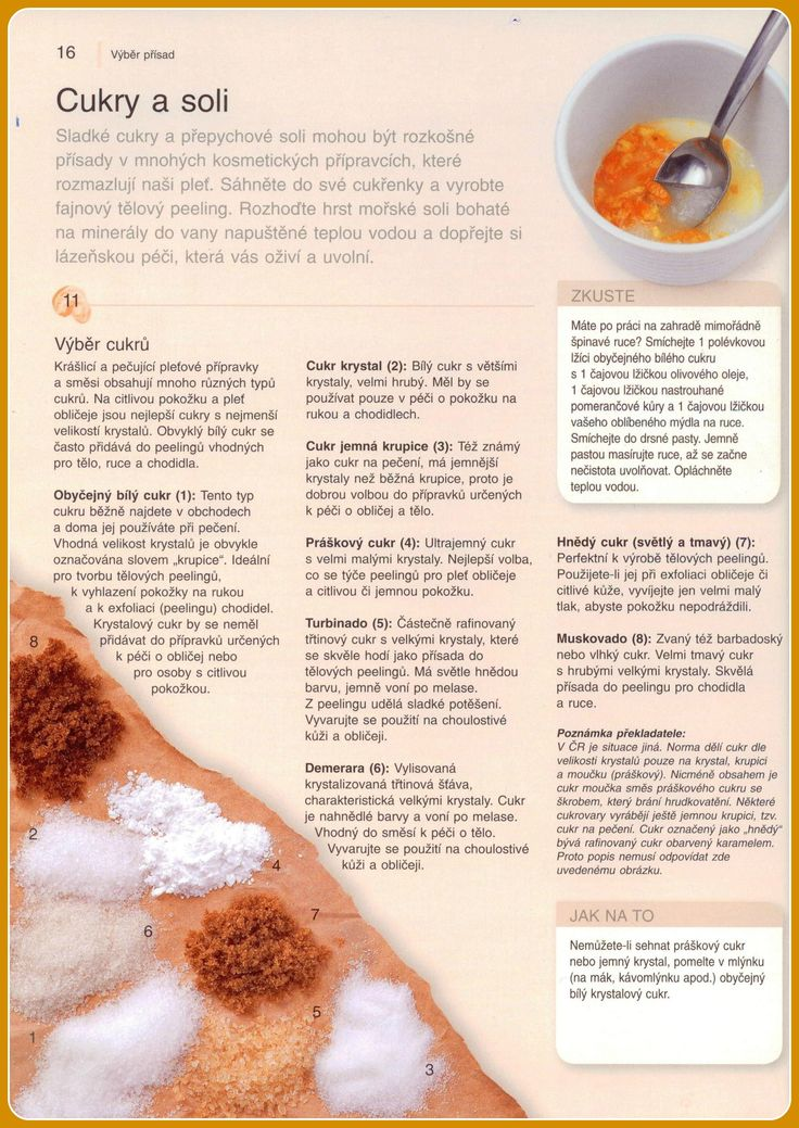 Cukry a soli jsou velmi potřebné k výrobě domácí kosmetiky... PŘÍRODNÍ KOSMETIKA: JAK NA TO